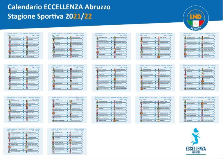 Eccellenza, presentato il calendario della stagione 2021/2022