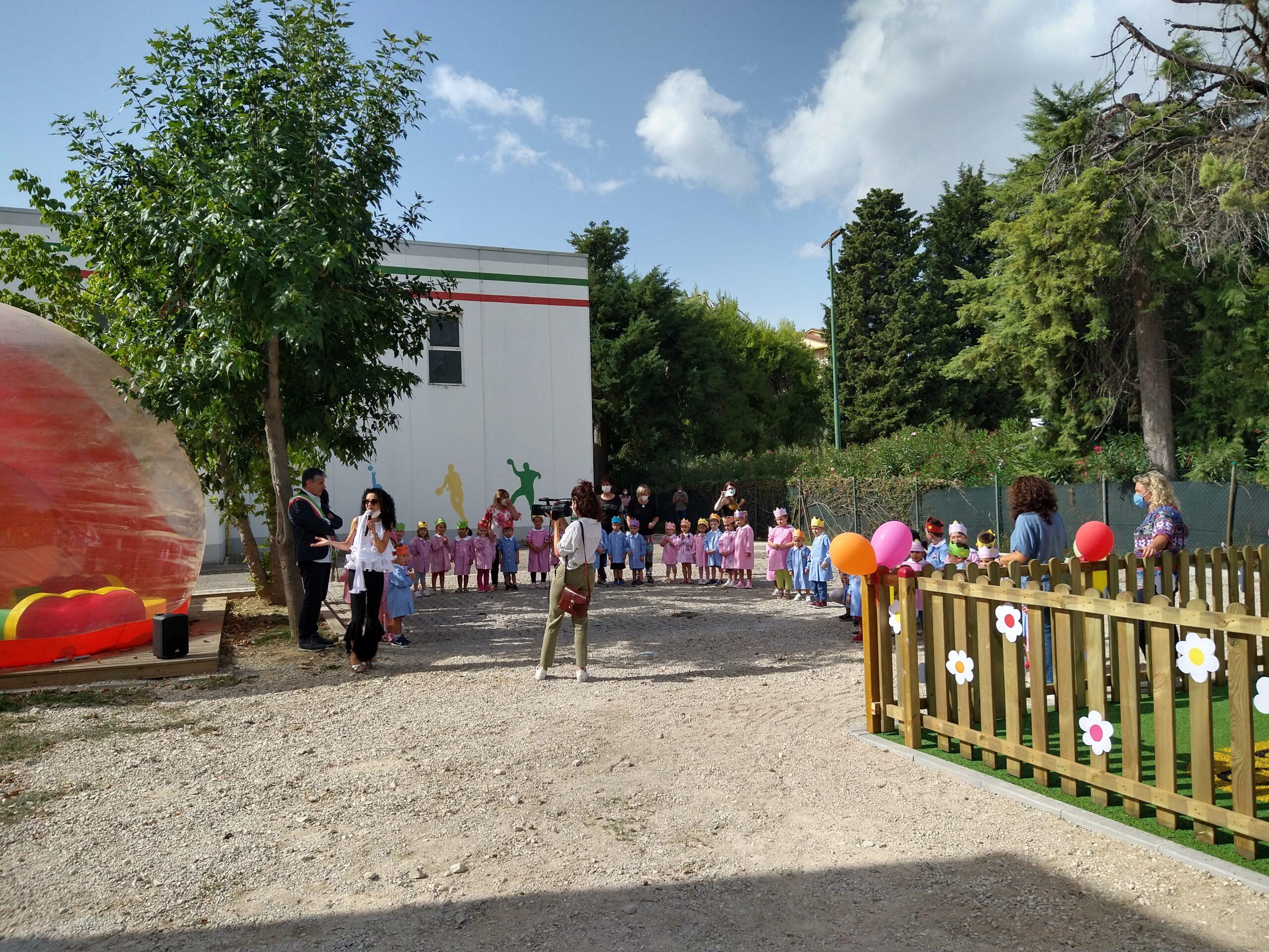 Castellalto, nuova area giochi all'istituto comprensivo Margherita Hack