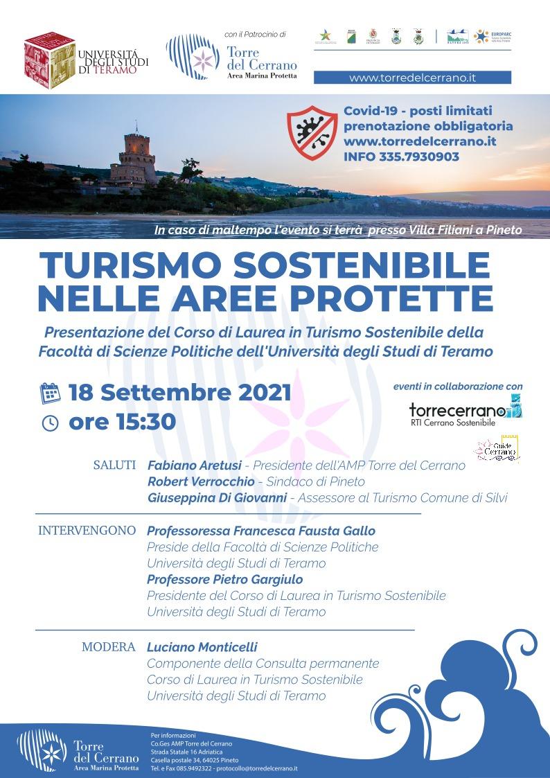 Torre del Cerrano: al via il corso di laurea in Turismo sostenibile