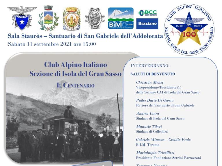 Isola del Gran Sasso, il Club Alpino Italiano compie 100 anni: convegno a San Gabriele