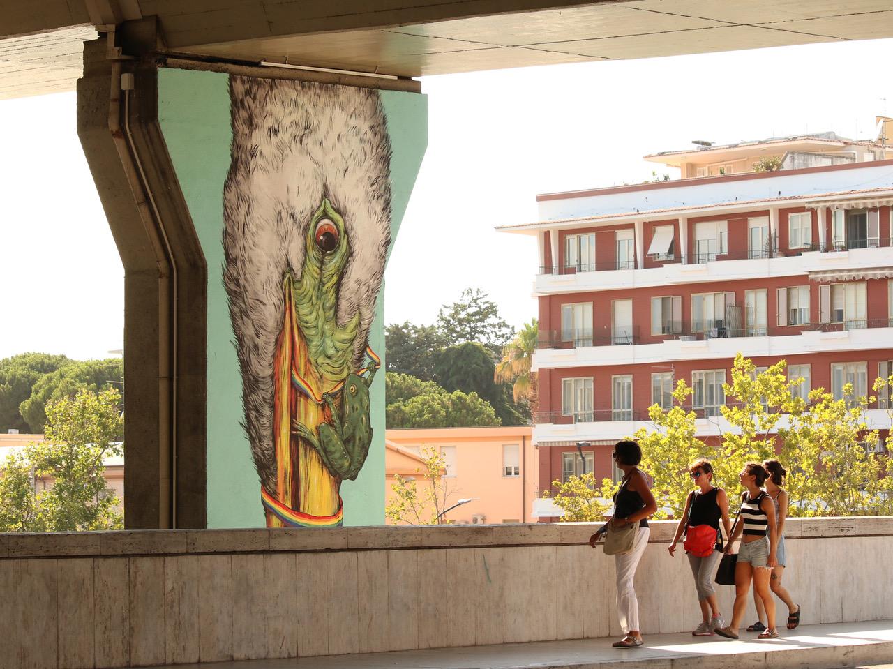 Pescara città di murales con Murap e Social Art-FOTO