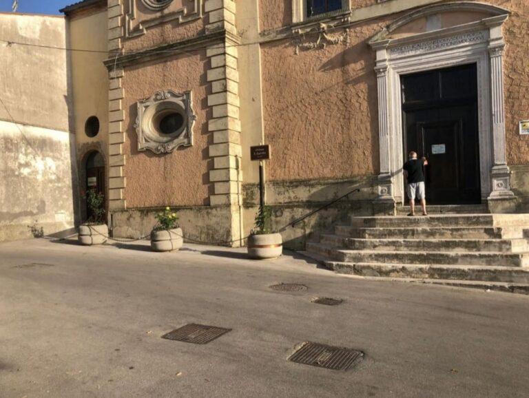 Atri, nuovo volto per la piazza antistante il Santuario di Santa Rita