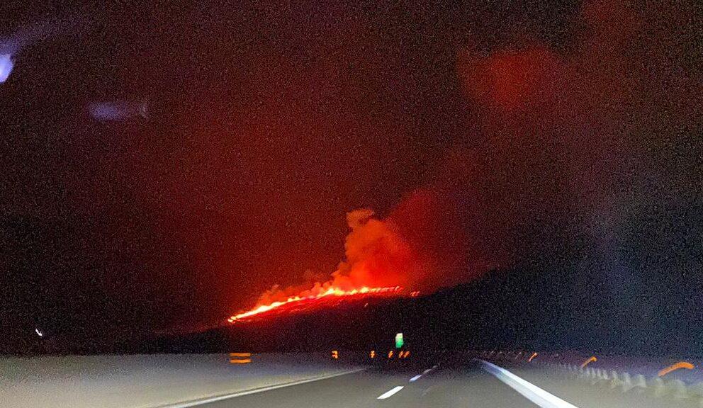 Incendio Majella: le fiamme vicine all'autostrada VIDEO-FOTO