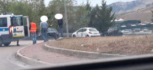Teramo, incidente a Piano d'Accio: strada bloccata FOTO