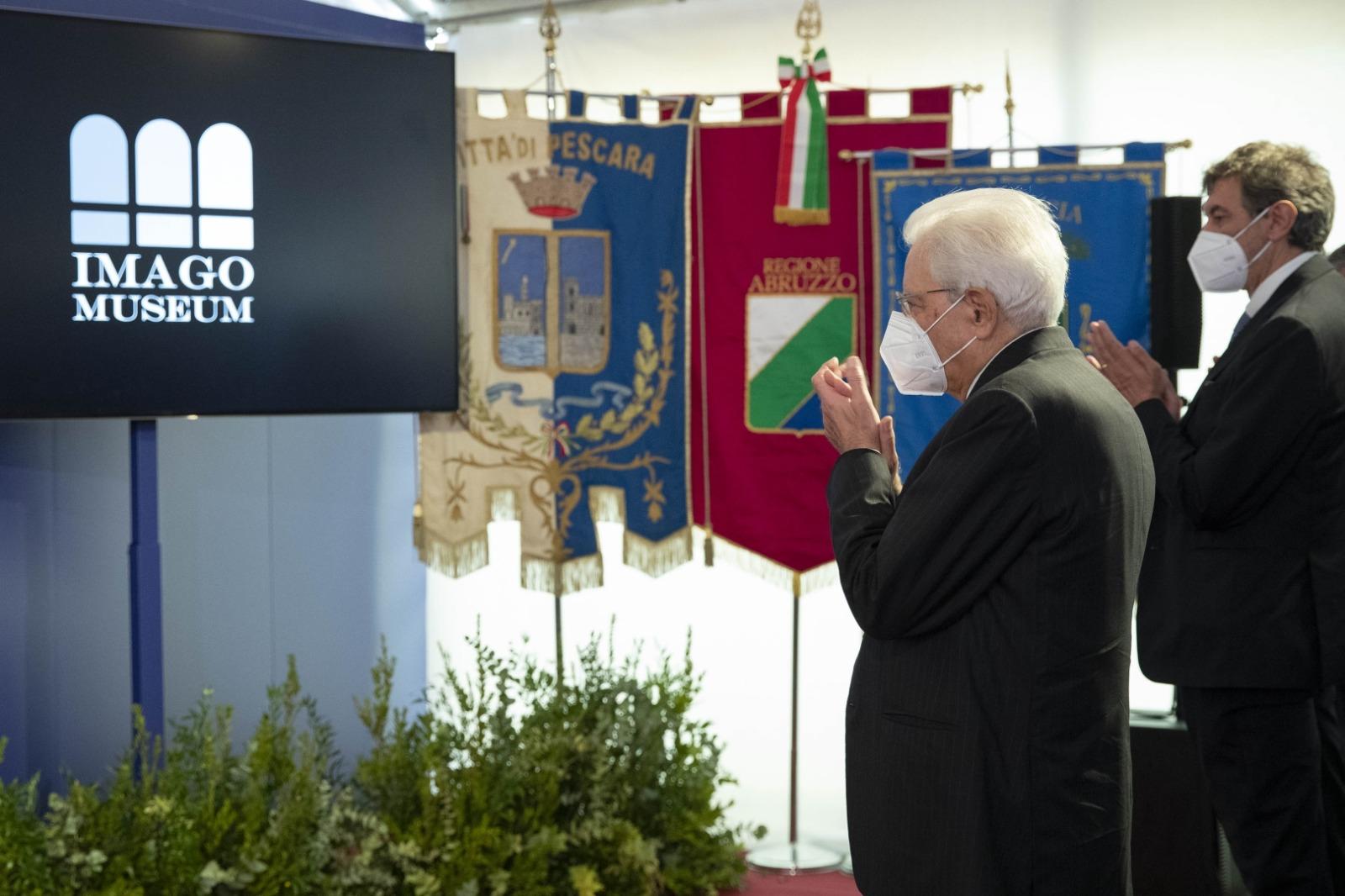 Mattarella a Pescara: grande apprezzamento per l'Imago Museum VIDEO-FOTO