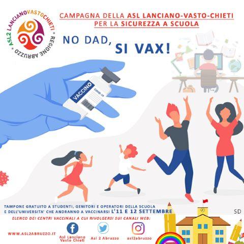 Covid-19, vaccinazioni a scuola in provincia di Chieti