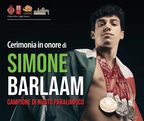 Penne premia il campione paralimpico Barlaam
