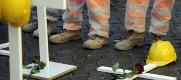 Incidenti sul lavoro: 10 morti in due giorni. Servono regole rigide per fermare la strage