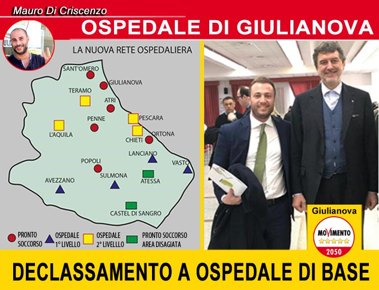Giulianova, il M5S in difesa dell'ospedale: 'Regione e sindaco responsaboli del declassamento'