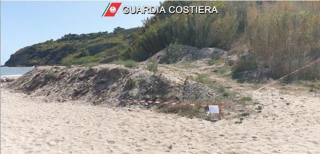 Ortona, rifiuti al lido Riccio: sequestro della Capitaneria di Porto