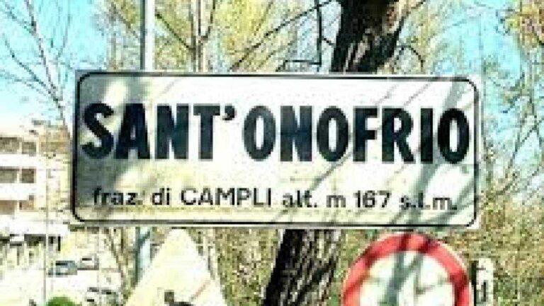 Sant'Onofrio frazione di serie B: l'attacco politico