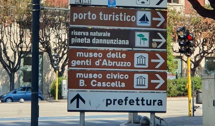 Pescara, nuova segnaletica per i musei