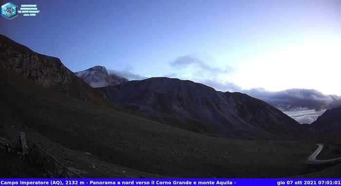 Neve sul Gran Sasso: temperature 'gelide' in Abruzzo
