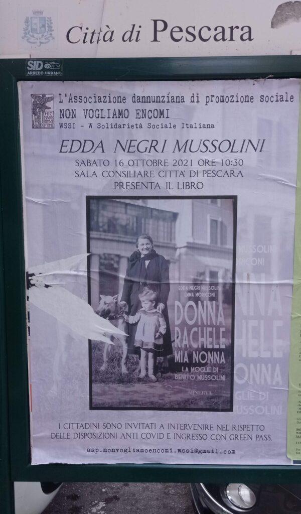 """La nipote di Mussolini nella sala del Comune di Pescara, sinistra e Anpi: """"Basta provocazioni fasciste"""""""