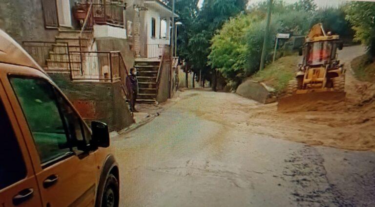 Maltempo Sant'Omero, acqua e fango sulle strade VIDEO