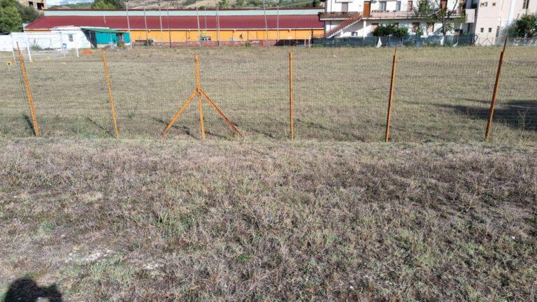 Bolognano, il campo sportivo alla formazione della protezione civile