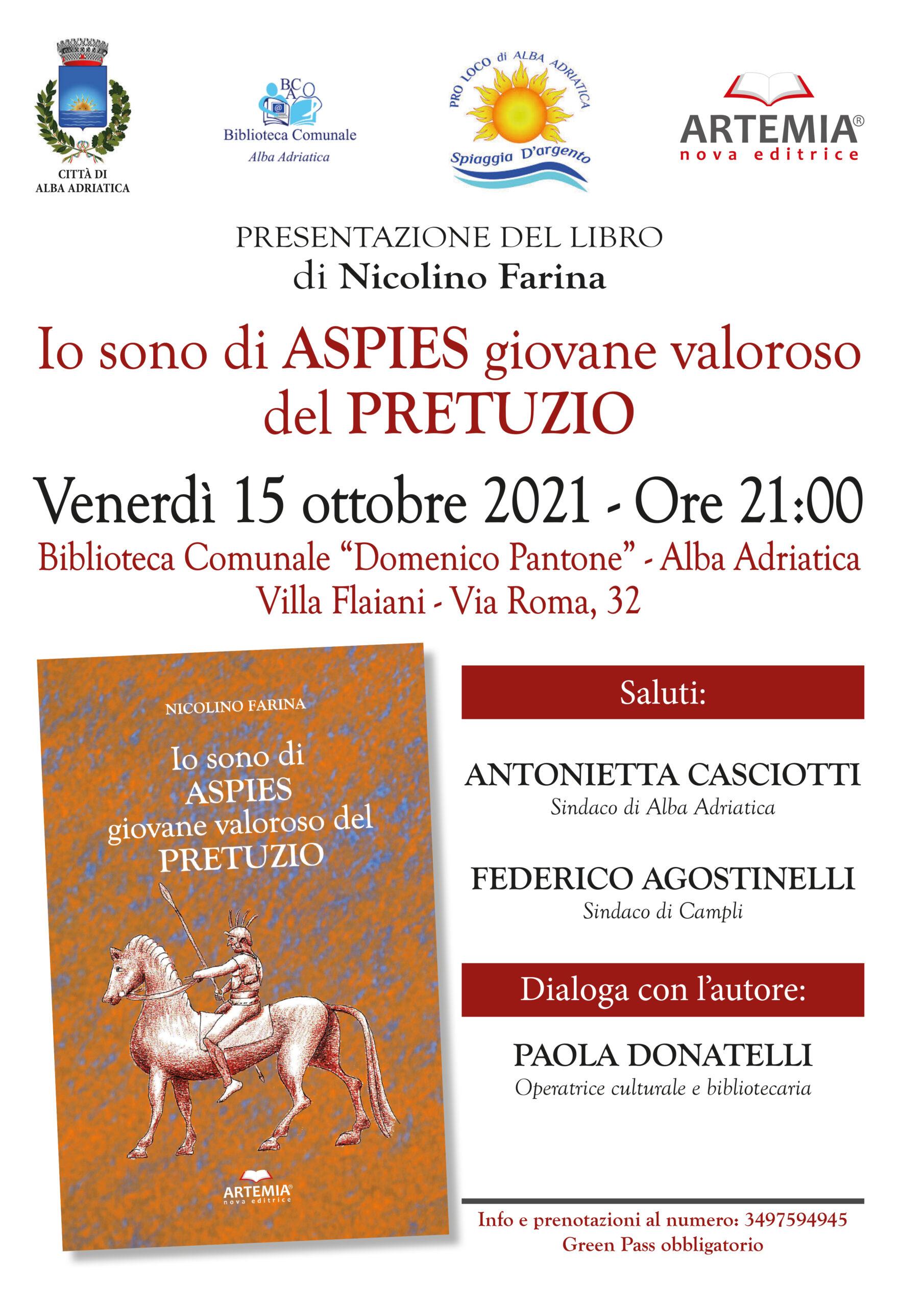 Alba Adriatica, Nicolino Farina presenta la sua pubblicazione in biblioteca