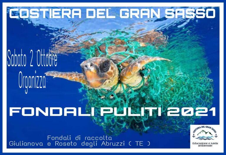 """Ambiente marino, appuntamento con """"Fondali Puliti 2021"""" a Giulianova e Cologna Spiaggia NOSTRO SERVIZIO"""